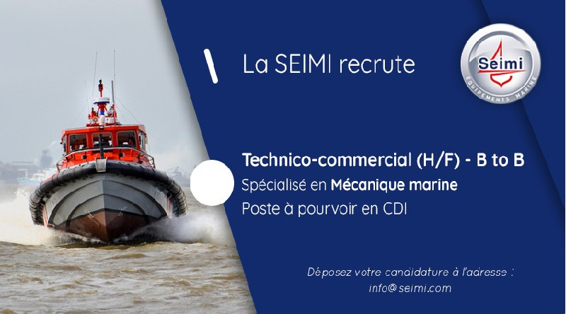 SEIMI recrute un technico commercial specialise mecanique marine