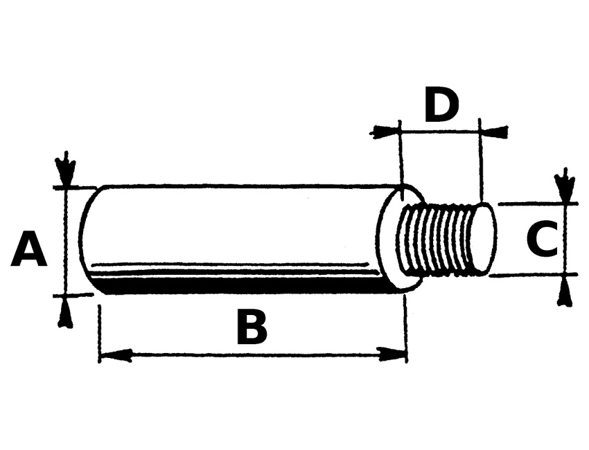 ANO5550-anode caterpillar - 16x60mm-seimi