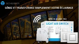 Light Air Switch gestion d'éclairage sans pile sans fil