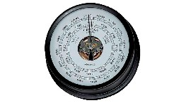B120N-black brass barometer - 120mm-seimi