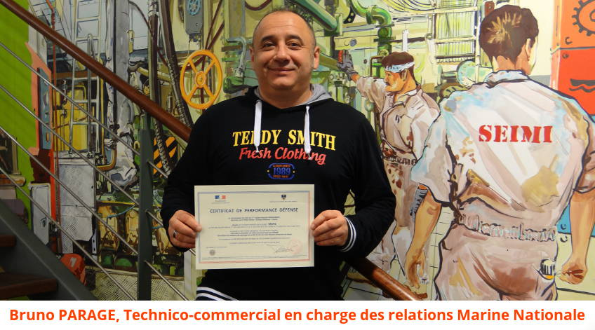 Bruno Parage technico-commercial SEIMI relation avec Marine Nationale