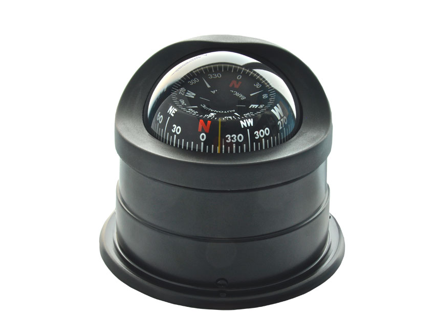C1549-compass 100mm black conical card-seimi