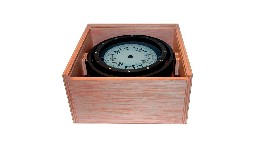 C2000131-125mm magnetic compass in woden box-seimi