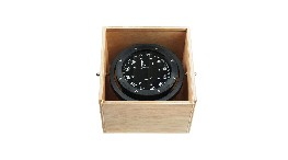 CSB114-100mm gimballed compass in woden box-seimi