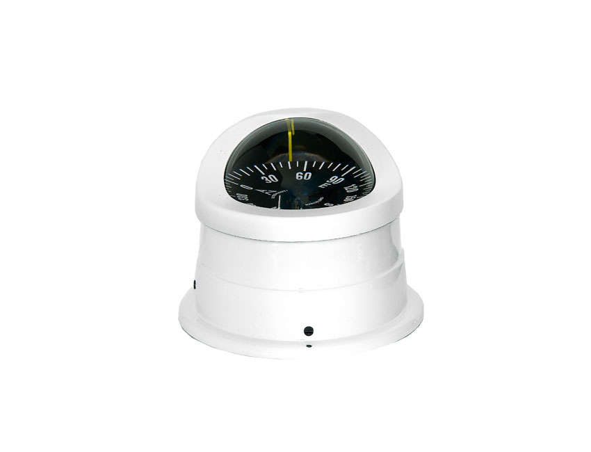 C1550-compass 100mm white - flat card-seimi