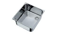 ER330-stainless steel sink stop outside dimensions 330x330mm depth 150mm-seimi
