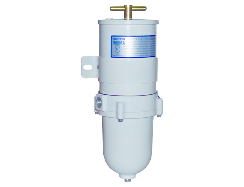 RA500MAM-fuel filter / separator -flow rate: 227 l/h  c/w hard bowl-seimi