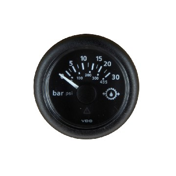 MPH30B-oil pressure manometer diam 52 mm - 12/24v 30bars/435psi-seimi