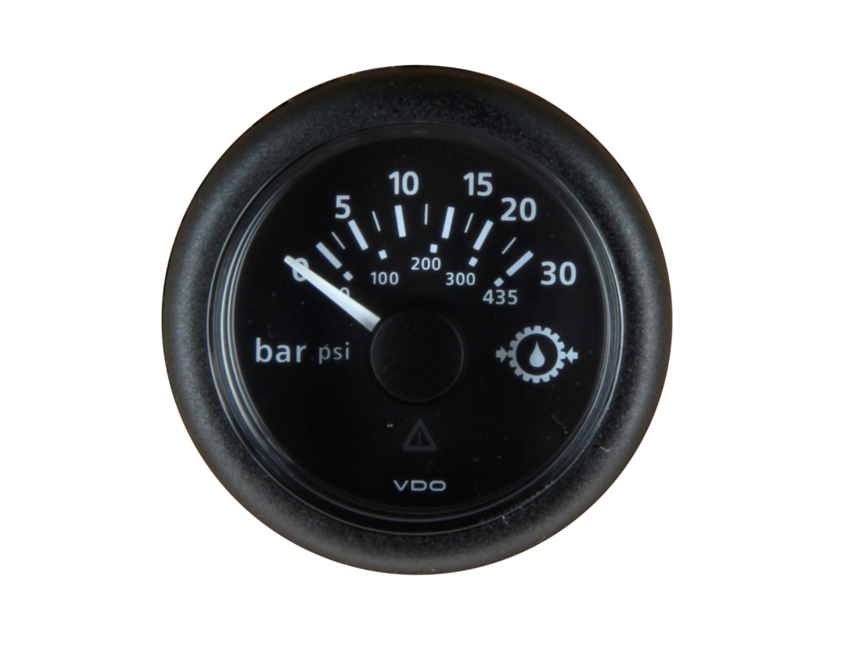 MPH10B-oil pressure manometer diam 52 mm - 12/24v - 10bars/145psi-seimi
