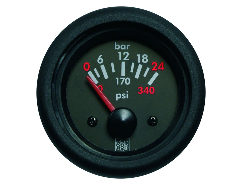 MPH125BS-oil pressure gauge diam 52 mm - 12v - 5bars-seimi
