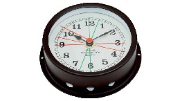 R120N1-black brass clock - 120mm-seimi