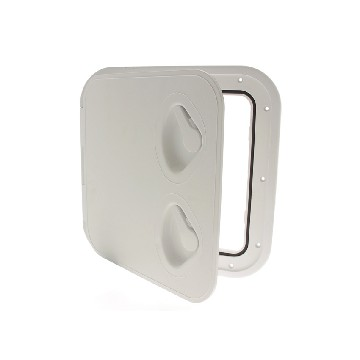 SP2431-white door - opening at 180° l 355mm x 600mm, with key-seimi