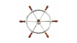 RAM500CN-iroise stainless steel wheel 500 cn with wooden crank pins-seimi