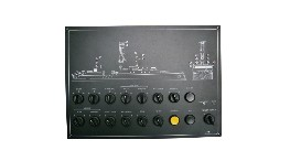 TF08SYN230-navigation lights panel for 8 pos with overview - 230v-seimi