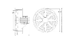 "plan : axial fan type "" axf 400 "" - 24v-seimi"