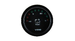332030LD1-led voltmeter diam 52 mm 12 v-seimi